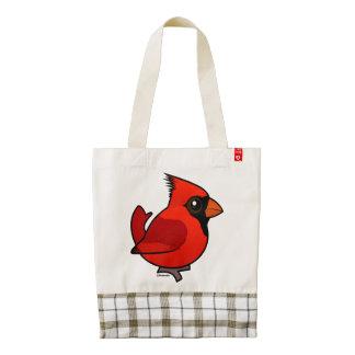 Birdorable Northern Cardinal Zazzle HEART Tote Bag