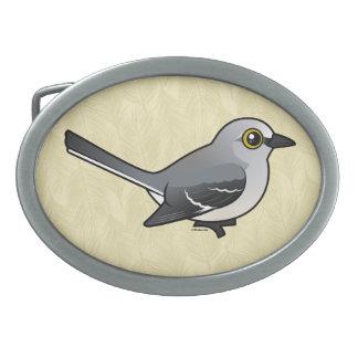 Birdorable Northern Mockingbird Oval Belt Buckle