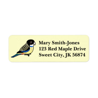 Birdorable Northern Rosella Label