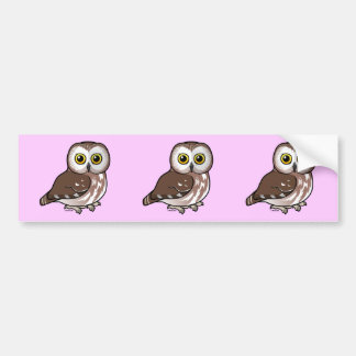 Birdorable Northern Saw-whet Owl Bumper Sticker