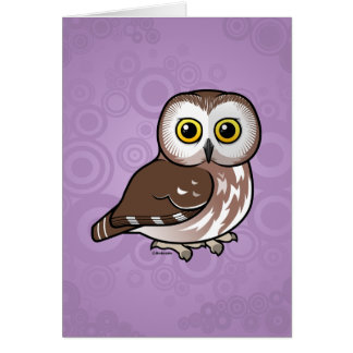 Birdorable Northern Saw-whet Owl Card