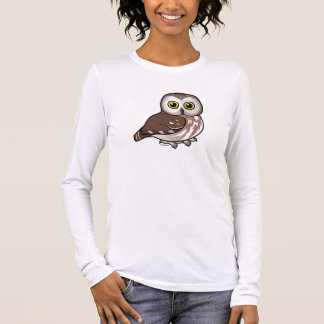 Birdorable Northern Saw-whet Owl Long Sleeve T-Shirt