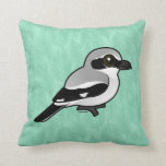 Birdorable Northern Shrike Throw Pillow