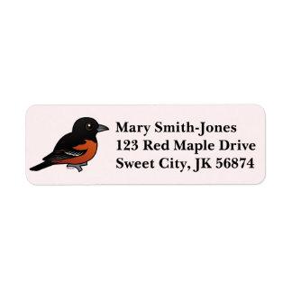 Birdorable Orchard Oriole Return Address Label