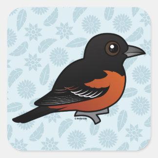 Birdorable Orchard Oriole Square Sticker