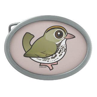 Birdorable Ovenbird Belt Buckle