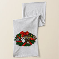 Birdorable Owls Christmas Wreath Scarf