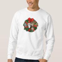 Birdorable Owls Christmas Wreath Men's Basic Sweatshirt