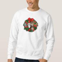 Birdorable Owls Christmas Wreath Sweatshirt