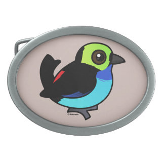 Birdorable Paradise Tanager Belt Buckles