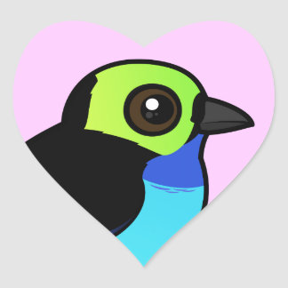 Birdorable Paradise Tanager Heart Sticker