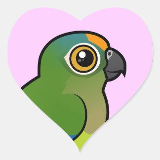 Birdorable Peach-fronted Parakeet Heart Sticker