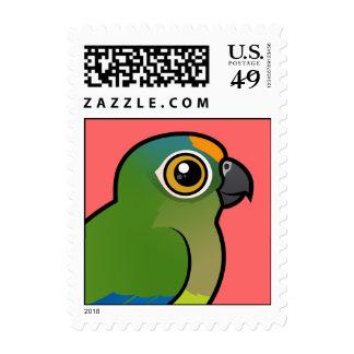 Birdorable Peach-fronted Parakeet Stamp