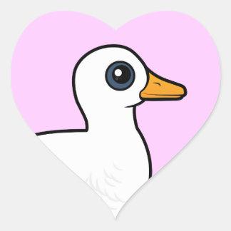 Birdorable Pekin Duck Heart Sticker