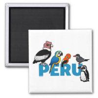 Birdorable Peru Square Magnet