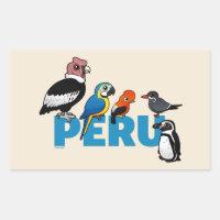 Birdorable Peru Rectangle Sticker