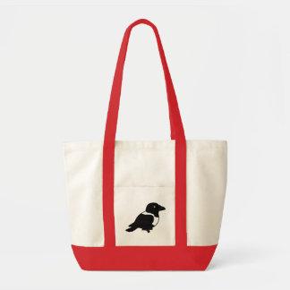 Birdorable Pied Crow Tote Bag