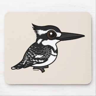 Birdorable Pied Kingfisher Mouse Pad