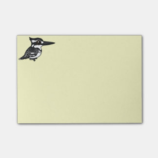 Birdorable Pied Kingfisher Post-it® Notes