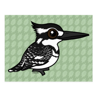 Birdorable Pied Kingfisher Postcard