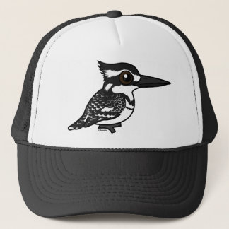Birdorable Pied Kingfisher Trucker Hat