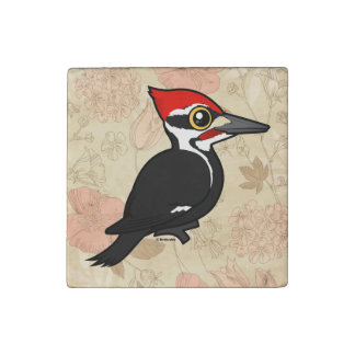 Birdorable Pileated Woodpecker Stone Magnet