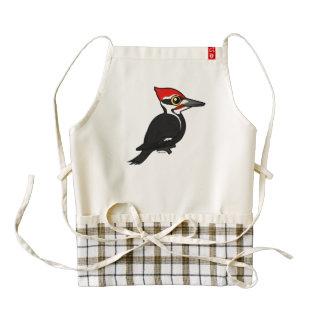 Birdorable Pileated Woodpecker Zazzle HEART Apron