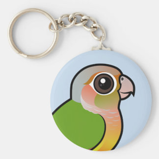 Birdorable Pineapple Green-cheeked Conure Basic Round Button Keychain