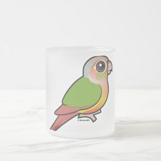 Birdorable Pineapple Green-cheeked Conure Frosted Glass Coffee Mug