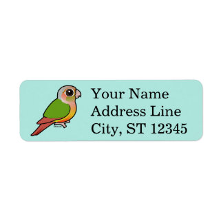 Birdorable Pineapple Green-cheeked Conure Label