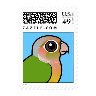 Birdorable Pineapple Green-cheeked Conure Stamp