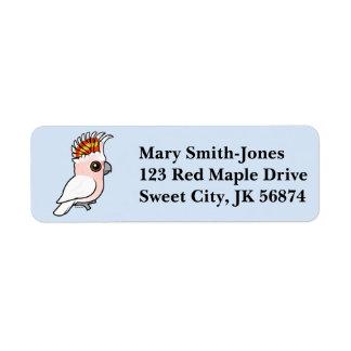 Birdorable Pink Cockatoo Label