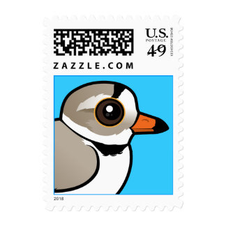 Birdorable Piping Plover Postage Stamps