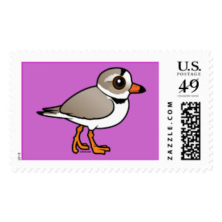 Birdorable Piping Plover Stamp