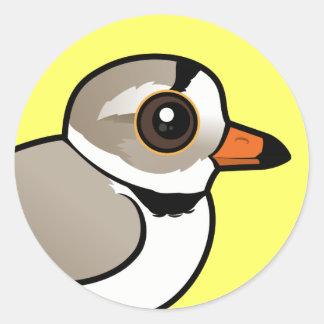 Birdorable Piping Plover Classic Round Sticker