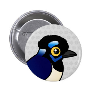 Birdorable Plush-crested Jay Button