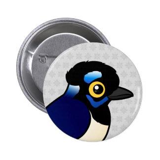Birdorable Plush-crested Jay Pinback Button
