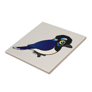Birdorable Plush-crested Jay Ceramic Tile