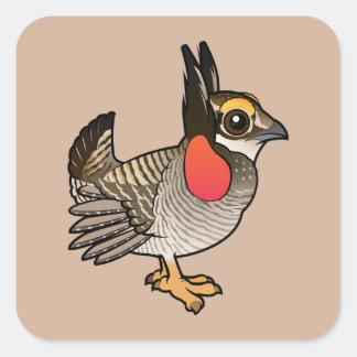 Birdorable poco Pradera-Pollo Pegatina Cuadradas Personalizada