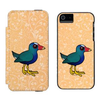 Birdorable Purple Gallinule iPhone SE/5/5s Wallet Case