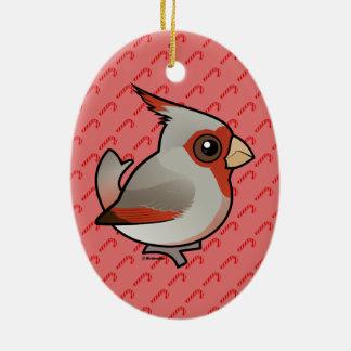 Birdorable Pyrrhuloxia Ceramic Ornament