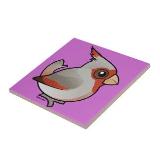 Birdorable Pyrrhuloxia Ceramic Tile