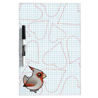 Birdorable Pyrrhuloxia Dry-Erase Board