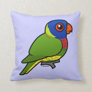 Birdorable Rainbow Lorikeet Throw Pillow