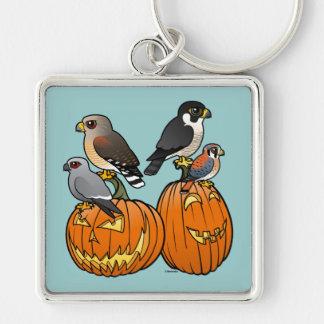 Birdorable Raptors on Pumpkins Keychains