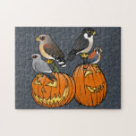 Birdorable Raptors on Pumpkins Puzzle