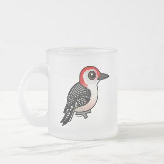 Birdorable Red-bellied Woodpecker Frosted Glass Coffee Mug