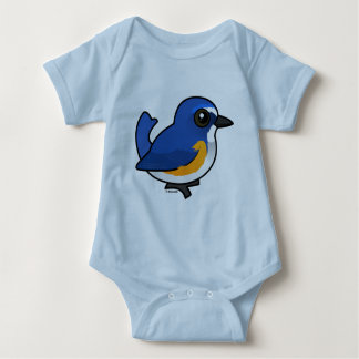 Birdorable Red-flanked Bluetail Baby Bodysuit