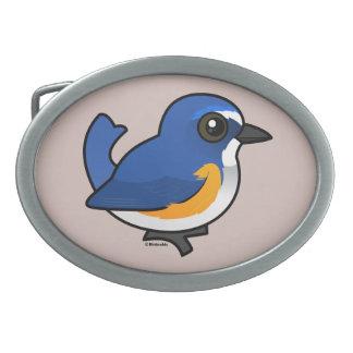 Birdorable Red-flanked Bluetail Belt Buckle