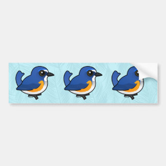 Birdorable Red-flanked Bluetail Bumper Stickers